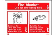 W6376D - FIRE BLANKET EXTINGUSHER IDENTIFICATION SIGN wp 150 x 200mm